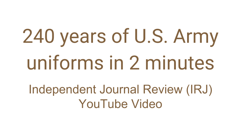 YouTube Video: 240 years of U.S. Army uniforms in 2 minutes